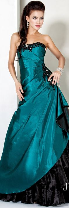 Jovani Prom couture 2013  I love the color and how it's gathered at her hip