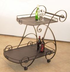 wrought iron trolley