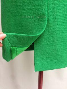 Tatianologia: Обработка шлицы в изделиях на подкладке.