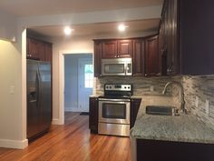 Finished #Kitchen - Bristol Chocolate Cabinets By Lily Ann Cabinets  #cabinets #bristolchocolate