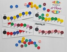 Caterpillar : arrange the buttons corresponding pattern caterpillar card Uppercase And Lowercase, Busy Bags, Picture Cards, Kit, Games For Kids, Kids Toys, Alphabet, Shapes, Caterpillar