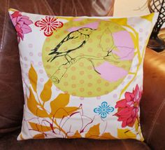 Beautiful Fabric! --- Throw Pillow Cover  16x16 sewn with Anna Maria by PersnicketyHome, $13.00