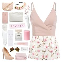 """""""PINK SPRING"""" by paradiselemonade ❤ liked on Polyvore featuring RED Valentino, Dorothy Perkins, Forever 21, Marie Turnor, Joie, Bella Freud, Le Labo, Frette, Rodin Olio Lusso and Byredo"""