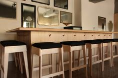 wooden bar with functional hooks