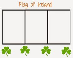 Printable Ireland Flag Coloring Page for St. Patrick's Day Click here to download and print for FREE! St. patrick's day activity, Irish flag, free printable, St. patrick's day printable, Irish, St. Patricks Day preschool, St. Patricks day activity, St. Patrick's day craft