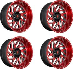 Truck Rims, Truck Wheels, 5th Wheels, Jeep Truck, Ram Sport, Candy Red, Rims And Tires, Red Mill, Chrome Wheels