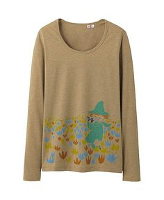 Moomin Snufkin Uniqlo long sleeve t-shirt