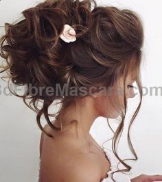 Elstile wedding hairstyles for long hair 10 - Deer Pearl Flowers / www.deerpearlflow...