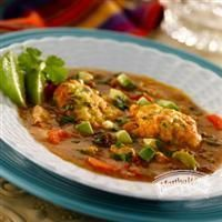 Cilantro Lime Corn Meal #Dumplings in Chorizo Chicken #Soup from Martha White®