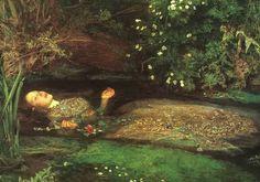 Ophelia, pintura de Sir John Everett Millais (Southampton, 8 de junho de 1829 — Londres, 13 de agosto de 1896). Millais foi um pintor e ilustrador inglês e um dos fundadores da Irmandade Pré-Rafaelita