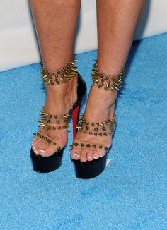 Kim Zolciak's shoes at NeNe Leakes' Wedding in 2013