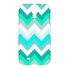 Cool Tiffany Chevron Pattern Samsung Galaxy S4 S 4 Hardshell Case Cover
