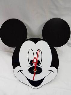 Mickey Mouse Disney Acrylic Clock by DooDillyDesigns on Etsy