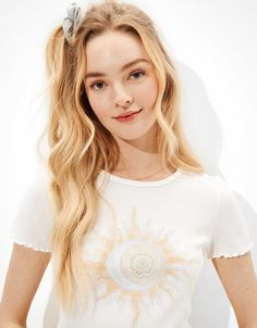 AE Tie-Dye Graphic Baby Tee Tees For Women, Clothes For Women, Tie Dye Designs, Color Of Life, Mens Outfitters, Vintage Ladies, American Eagle Outfitters, Graphic Tees, Fashion Design