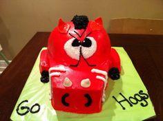 Arkansas Razorback Party Cake