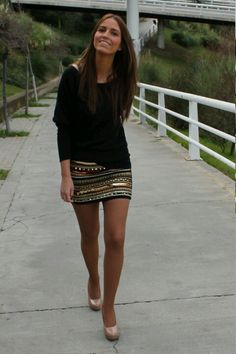 perfecta falda joya + básica negra