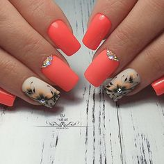 Best Beauty Nails Part 16 Cute Acrylic Nails, Cute Nails, Pretty Nails, Nail Art Designs Videos, Diy Nail Designs, Manicure, Pedicure Nails, Bright Nails, Red Nails