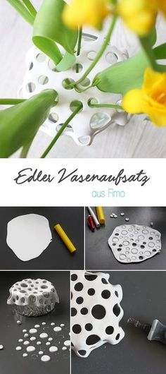 DIY Vase Blumen arragieren Fimo Deko kreativ Geschenk basteln - DIY Vase Blumen arragieren Fimo Deko kreativ Geschenk basteln Effective pictures we provide you abo - Clay Projects, Clay Crafts, Diy Craft Projects, Diy And Crafts, Gift Crafts, Craft Ideas, Project Ideas, Simple Crafts, Fair Projects