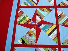 Double Pinwheel String Quilt Tutorial Part 1: Making the Template by P. at The Way I Sew It