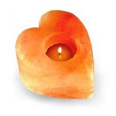 Himalayan  Salt Candle Holders - Heart 4*4*2