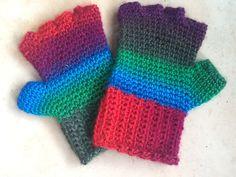 Vingerloze handschoenen gemaakt voor mijn vader die graag kleur wilde