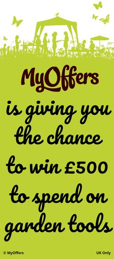 MyOffers is giving you the chance to win to spend on garden tools. UK only. Tools Uk, Horticulture, Garden Tools, Competition, Household, Gardening, Lifestyle, Free, Vegetable Gardening