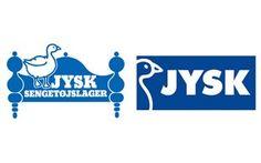 I 2001 skifter Jysk Sengetøjslager i Danmark, Sverige og Finland navn og det velkendte sengegavlslogo får nyt design. Efterhånden som koncernen har spredt sig ud i Europa, er Jysk Sengetøjslager blevet til forskellige navne som Jysk Bäddlager og Jysk Vuodevarasto - og det er svært at have en linje i den internationale markedsføring. Ved at slette 'sengetøjslager' og kun bruge 'JYSK', bibeholdes genkendelsen af firmanavnet - og samtidig er det et navn, der kan bruges i alle lande.