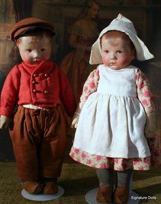 "Beautiful Dutch Dolls by Kathe Kruse, 14"" tall"