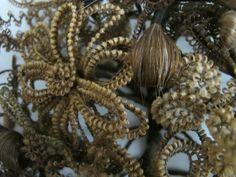 Hair wreath close up.
