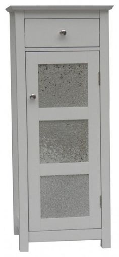 Deluxe White Bathroom Floor Cabinets