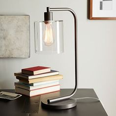 Lens Table Lamp #westelm X2 ANGLAIS- on either side of the sofa on side tables