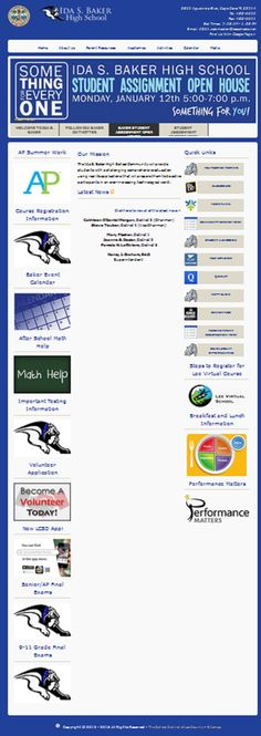 Ida S. Baker High School 3500 Agualinda Blvd, Cape Coral FL 33914 Tel: 458-6690, Fax: 458-6691