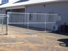 Commercial Chain Link Security Fence With Cantilever Gate