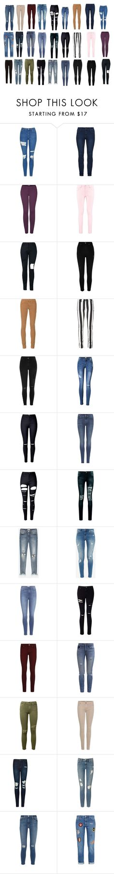 """Geen titel #1713"" by mariemx ❤ liked on Polyvore featuring Topshop, 2LUV, Boohoo, River Island, AG Adriano Goldschmied, Off-White, 7 For All Mankind, WithChic, Ted Baker and Paige Denim"