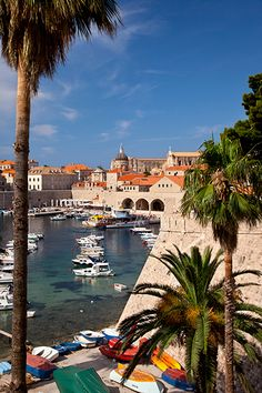 Harbor of Dubrovnic, Croatia   - for more inspiration visit http://pinterest.com/franpestel/boards/