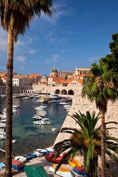 Harbor of Dubrovnic, Croatia   - for more inspiration visit http://pinterest.com/franpestel/boards/