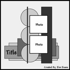 scrapbook page layout idea Scrapbook Patterns, Scrapbook Layout Sketches, Notebook Sketches, Scrapbook Titles, Scrapbook Templates, Scrapbook Designs, Scrapbook Embellishments, Card Sketches, Scrapbook Paper Crafts