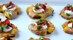 A game day appetizer that brings the flavor of a loaded baked potato to just a couple of bites.