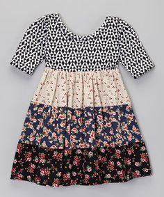 Look what I found on #zulily! Pretty Me Black & Red Cherry Jubilee Dress - Infant, Toddler & Girls by Pretty Me #zulilyfinds