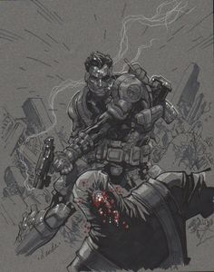 Nick Fury by Carlos D'Anda