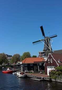 Dutch windmill, Haarlem, Netherlands