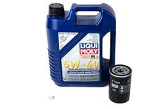 Liqui Moly Oil Service Kit: 1.8T LMOSK-18TT, Complete. Often times it can be difficult to locate the proper oil and filter needed to perform an oil change on your vehicle. The experts at USP have assembled a comprehensive kit with all the necessary components to perform an oil change service on your vehicle.  USP carefully selected the included components with quality in mind. Liqui Moly 5W40 motor oil is included in every kit. Not only is the oil fully synthetic, but it also meets…