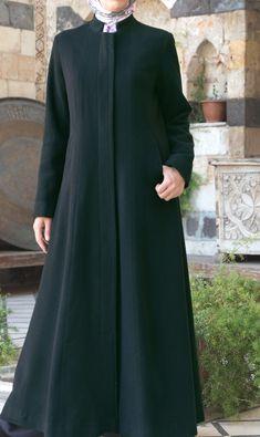 Salma Wool Coat in Black by SHUKR Islamic Clothing