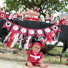 Red Polka Dot Minnie Mouse Party | CatchMyParty.com
