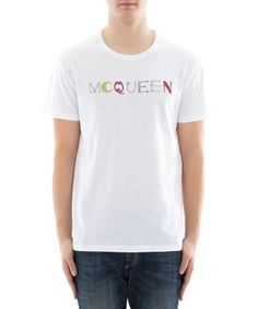 ALEXANDER MCQUEEN ALEXANDER MCQUEEN MEN'S  WHITE COTTON T-SHIRT. #alexandermcqueen #cloth #