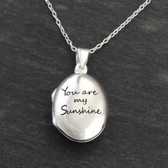 FashionJunkie4Life - Engraved 'You are My Sunshine' Locket Necklace - Sterling Silver, $29.99 (http://www.fashionjunkie4life.com/engraved-you-are-my-sunshine-locket-necklace-sterling-silver/)