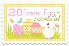 20 DIY Easter EGG TUTORIALS... So darn cute! #Easter #eggs the36thavenue.com