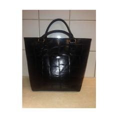 Authetntic Classic Vintage Mulberry Tote Hand Bag Black Leather   eBay found on Polyvore