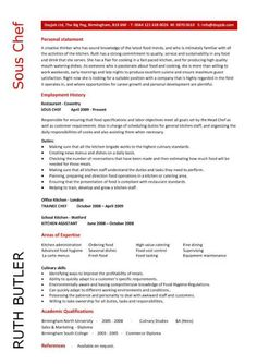 chef resume sample examples sous chef jobs free template chefs - Sample Culinary Resume