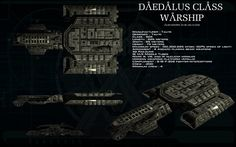 Daedalus class warship ortho by unusualsuspex on deviantART